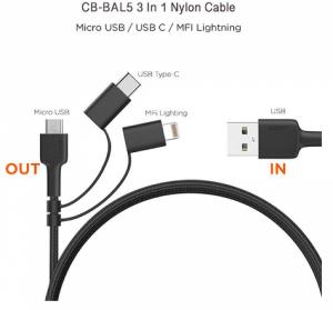 کابل  USB به Lightning آوکی مدل CB-BAL5