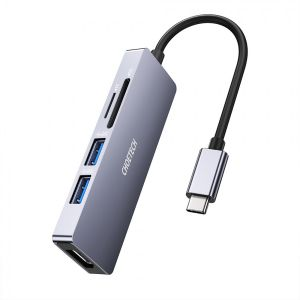 هاب 5 پورت Type-C به HDMI چویتک مدل HUB-M18